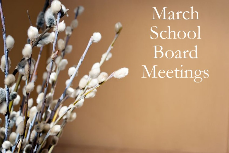 March School Board Meetings