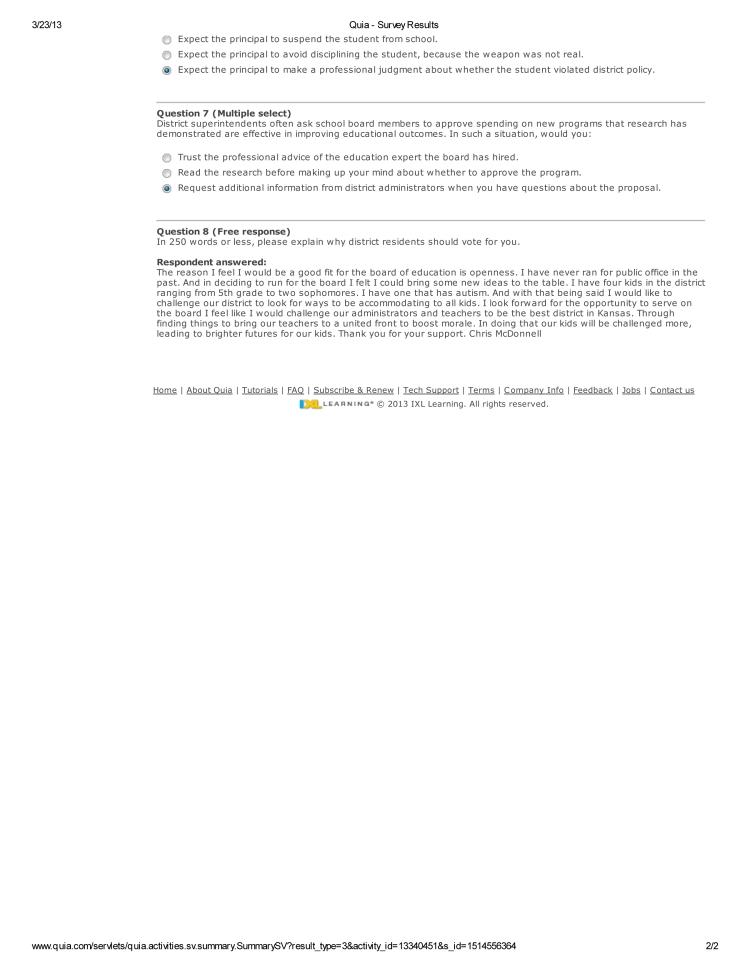 Chris McDonnell Quia - Survey Results-2