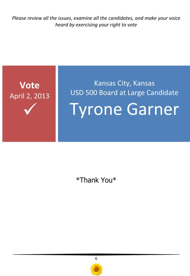 Kansas City Kansas USD 500 School Board Candidate